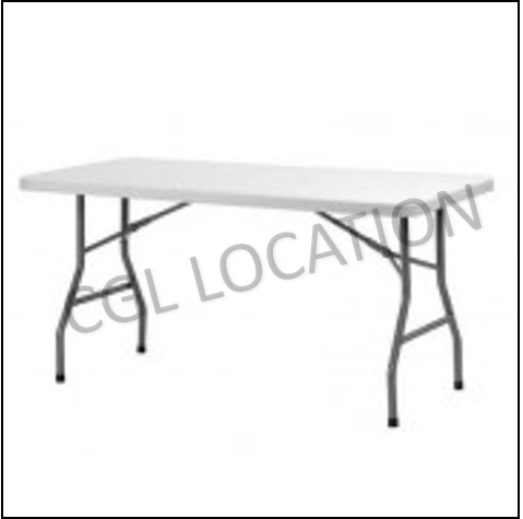 Mobilier : Table rectangulaire 6 pers.