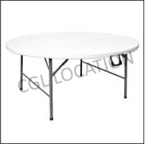 Mobilier : Table ronde 8 pers.