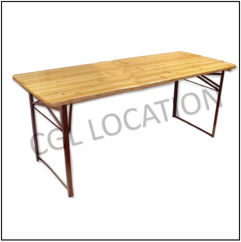 Mobilier : Table rectangle